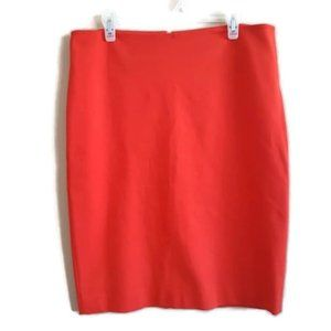 Joe Fresh | bright red pencil skirt with back slit
